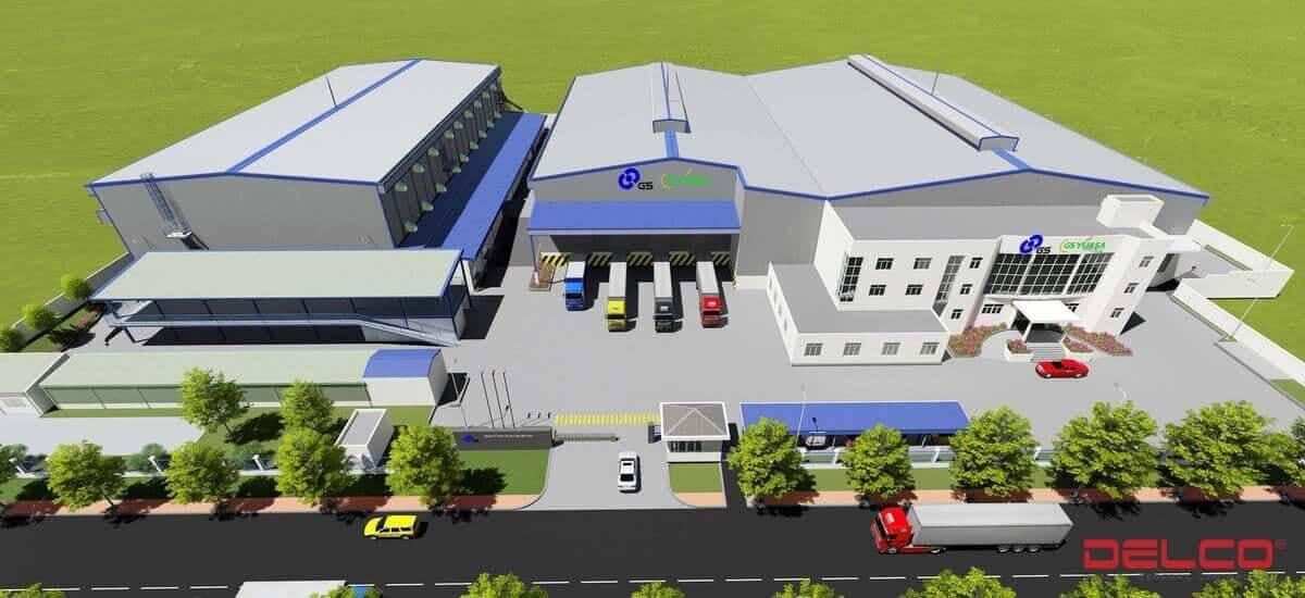 Xây dựng nhà máy ăc quy GS giai đoạn 2