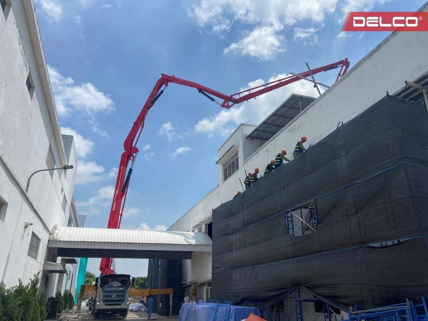 Một hạng mục cải tạo tại nhà máy điện tử ANNEX Hưng Yên do DELCO thi công.