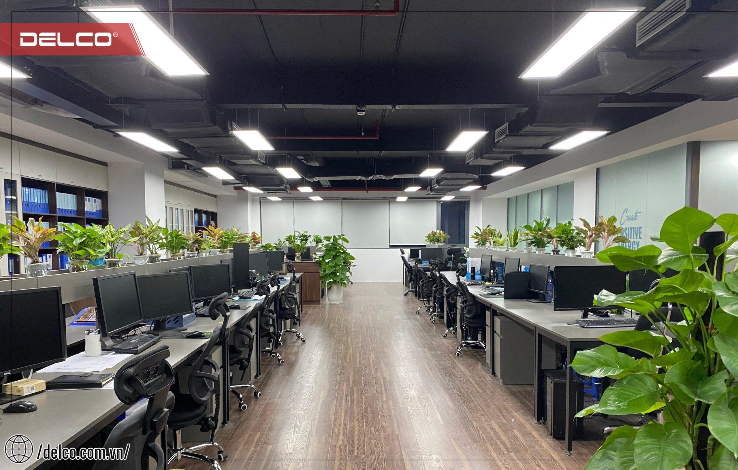 Không gian làm việc mở tại văn phòng DELCO