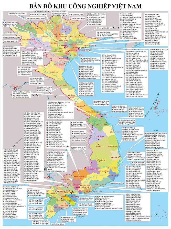 Bản đồ KCN Việt Nam